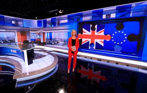 RTÉ News Presenter Caitriona Perry in the newly refurbished RTÉ News Studio