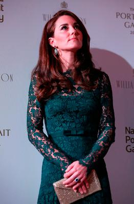 Britain's Catherine, Duchess of Cambridge attends the 2017 Portrait Gala, at the National Portrait Gallery in London on March 28, 2017