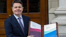 Measure: Finance Minister Paschal Donohoe on Budget Day last year. Photo: REUTERS/Lorraine O'Sullivan