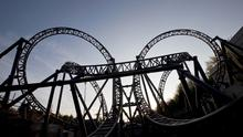 The Smiler ride at Alton Towers Resort in Staffordshire, as sixteen people have been involved in a collision between two carriages at Alton Towers amusement park's Smiler attraction. Fabio De Paola/PA Wire
