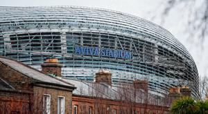 Uncertain times: The Aviva Stadium must wait until 2021 to host the Euros after it was put back a year. Photo: Stephen McCarthy/Sportsfile