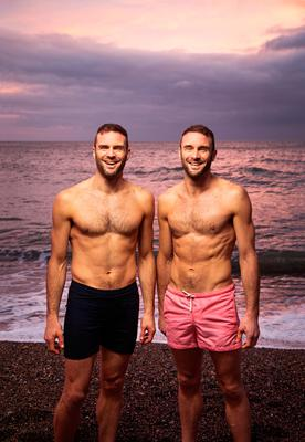 The Happy Pear: David and Stephen Flynn swim every day at dawn.  Photo: Mark Nixon