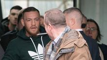 Conor McGregor faces off with reporter Conor Feehan