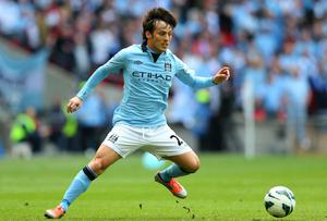 David Silva of Manchester City in action during the FA Cup