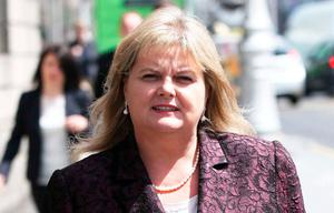 Former Rehab CEO Angela Kerins leaves the High Court. Photo: Collins Courts