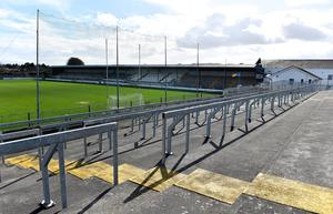 EMPTY: St Conleth's Park in Newbridge, Kildare at the time on Sunday when Kildare should have been playing against Cavan in a National Football League Division 2. Photo: Piaras Ó Mídheach/Sportsfile
