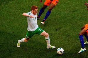Stephen Quinn in action against Holland last night