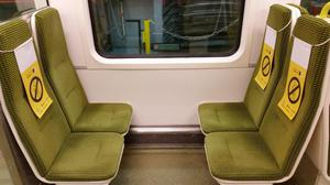 Social distancing has been implemented on DART carriages. Credit: Irish Rail