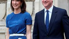 David Cameron and his wife Samantha leave the VE Day 70th Anniversary service at Westminster Abbey in London
