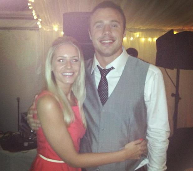 Tommy Bowe and wife Lucy Whitehouse. Picture: Instagram