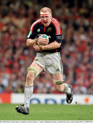 24 May 2008; Paul O'Connell, Munster. Heineken Cup Final, Munster v Toulouse, Millennium Stadium, Cardiff, Wales. Picture credit: Brendan Moran / SPORTSFILE