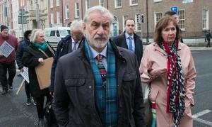 CRUCIAL MEETING: Kieran Mulvey, Chair of Sport Ireland, arrives at Leinster House yesterday. Photo: Gareth Chaney, Collins