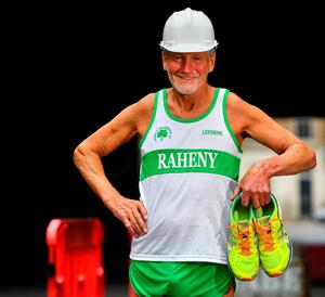 Still smiling: The cancellation has derailed plans for Dave Brady to complete his 1,000th marathon. He has notched up 928 marathons. Photo: David Fitzgerald/Sportsfile