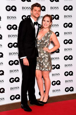 Tanya Burr and Jim Chapman attend the GQ Men Of The Year Awards at The Royal Opera House on September 8, 2015 in London, England.  (Photo by Gareth Cattermole/Getty Images)