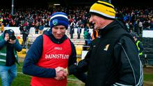 Laois manager Eddie Brennan with Kilkenny manager Brian Cody