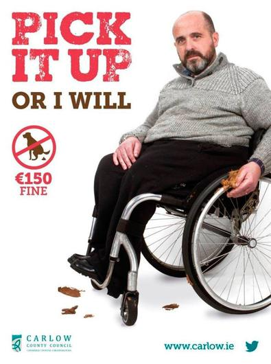 Peter Nolan, who features on dog fouling campaign posters