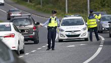 24/04/2020 Gardai conduct a COVID-19 checkpoint near Newbridge, Co. Kildare this afternoon..Picture Colin Keegan, Collins Dublin