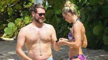 Brian McFadden with girlfriend Danielle Parkinson on holiday in Barbados. Picture; The Mega Agency