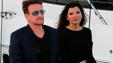 Bono and his wife Ali Hewson arriving at the DiCaprio Foundation party in St Tropez. Picture:  KCS Presse/Splash News