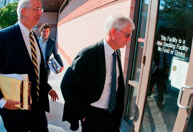 Thomas Martens (right) arrives for trial at the Davidson County Courthouse. Photo: Donnie Roberts/The Dispatch