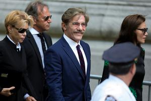 Journalist Geraldo Rivera arrives to attend the funeral of comedienne Joan Rivers at Temple Emanu-El in New York September 7, 2014. REUTERS/Lucas Jackson