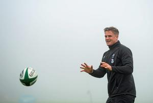 20 November 2014; Ireland's Jamie Heaslip during squad training ahead of their side's Guinness Series match against Australia on Saturday. Ireland Rugby Squad Training, Carton House, Maynooth, Co. Kildare. Picture credit: Stephen McCarthy / SPORTSFILE