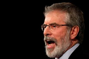 Sinn Fein president Gerry Adams delivers his keynote speech during the Sinn Fein Ard Fheis at the Millenium Forum, Londonderry. PRESS ASSOCIATION Photo. Picture date: Saturday March 7, 2015. Photo credit should read: Niall Carson/PA Wire