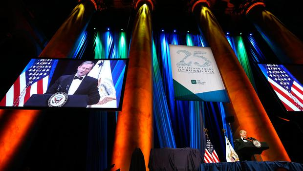 Taoiseach Enda Kenny delivers his speech at the Ireland Funds Dinner, Washington Museum.  Picture; Gerry Mooney