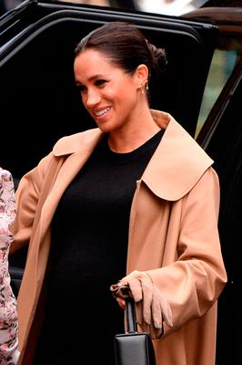 Meghan, Duchess of Sussex arrives at Smart Works on January 10, 2019 in London, United Kingdom.