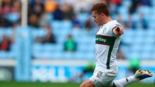 Paddy Jackson kicks a penalty for London Irish during a Gallagher Premiership match against Wasps last October 20. Photo: Matthew Lewis/Getty Images