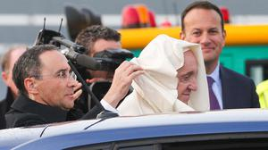 High price: Covering the visit of Pope Francis to Ireland was one of the special events that cost RTÉ €7.2m. Photo: MAXWELLS ON BEHALF OF WMOF18