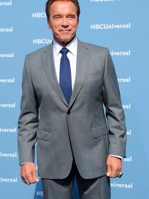 Arnold Schwarzenegger attends the NBCUniversal 2016 Upfront Presentation on May 16, 2016 in New York City.  (Photo by Brad Barket/Getty Images)