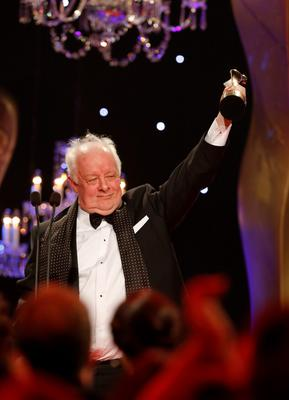 Jim Sheridan who received the Lifetime Achievement Award at the IFTA Awards 2015 at the Mansion House, Dublin. Photo by Kyran O'Brien NO FEE PIC
