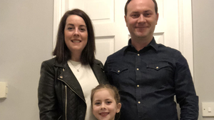 Ruth Morrissey with her husband Paul and her daughter Libby
