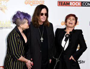 "Kelly Osbourne, Ozzy Osbourne and Sharon Osbourne pose during 10th annual of ""Classic Rock Roll of Honour"" awards"