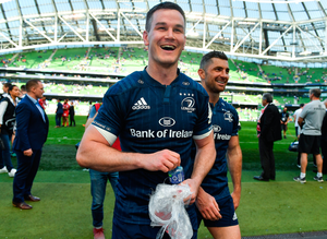 Home from home: Johnny Sexton and co, after last year's Heineken Cup semi-final win at the Aviva, may move from the RDS to welcome back fans. Photo: Sportsfile
