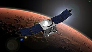 NASA's Mars Atmosphere and Volatile Evolution (MAVEN) mission is seen in this artist's concept released today.  The MAVEN robotic spacecraft fired its braking rockets on Sunday, ending a 10-month journey to put itself into orbit around Mars and begin a hunt for the planets lost water.  Reuters/NASA/Goddard Space Flight Center/Handout via Reuters