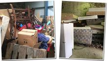 Mattresses and furniture stored in a warehouse in Bray, Co Wicklow