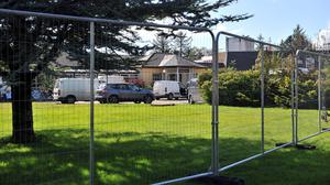 Unrest: Plans to use the long-closed Connemara Gateway hotel, near Oughterard, Co Galway, for housing asylum seekers led to 700 people attending a meeting in the town. Photo: Ray Ryan