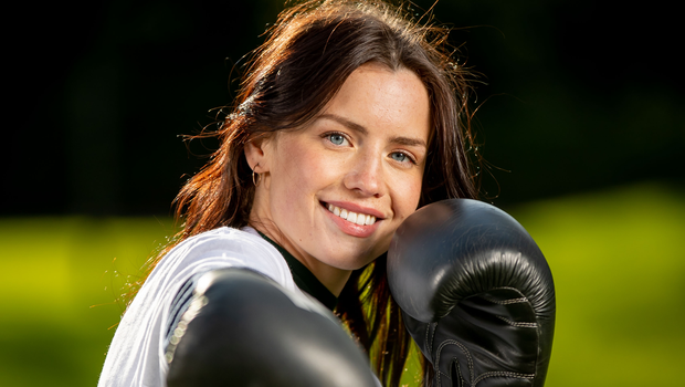 Benefits: Boxer Mary-Kate Slattery at the launch of the Irish Life Health Schools' Fitness Challenge which encourages participation in sports. Photo: INPHO