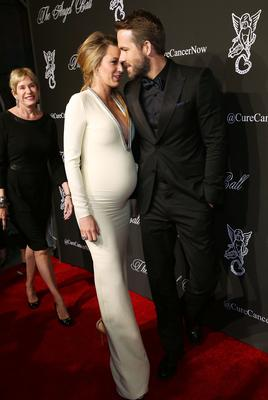 Actors Blake Lively and Ryan Reynolds attend Angel Ball 2014
