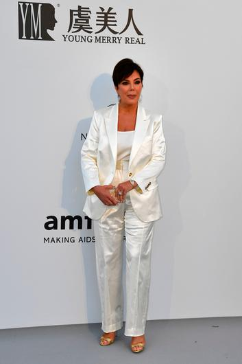 US entrepreneur Kris Jenner poses as she arrives on May 23, 2019 for the amfAR 26th Annual Cinema Against AIDS gala at the Hotel du Cap-Eden-Roc in Cap d'Antibes, southern France, on the sidelines of the 72nd Cannes Film Festival. (Photo by Alberto PIZZOLI / AFP)