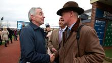 Mullins with Michael O'Leary. Photo: Damien Eagers