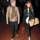 British radio & television presenter Chris Moyles spotted walking with Love/Hate actress Aoibhinn McGinnity