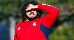 Adam Jones during squad training in Perth