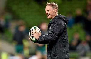 8 November 2014: Ireland head coach Joe Schmidt. Guinness Series, Ireland v South Africa. Aviva Stadium, Lansdowne Road, Dublin (Ramsey Cardy / SPORTSFILE)