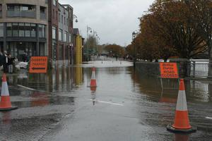 Flooding Enniscorthy Town on Friday morning