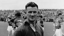 Theo English at the 1958 Munster hurling final. Photo: Sportsfile
