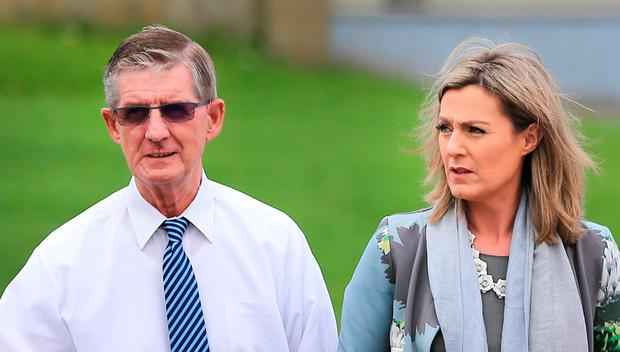 The late John Bailey and his daughter TD Maria Bailey, walking alongside TD Kate O'Connell in 2018: Gerry Mooney