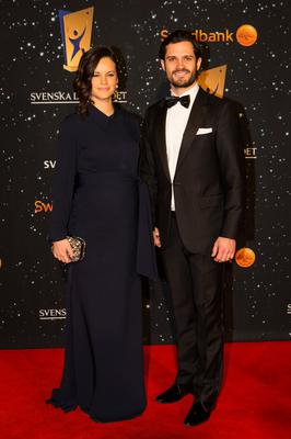 Prince Carl Phillip and Princess Sofia of Sweden attend the Swedish Sports Gala at the Ericsson Globe on January 25, 2016 in Stockholm, Sweden. (Photo by Michael Campanella/Getty Images)